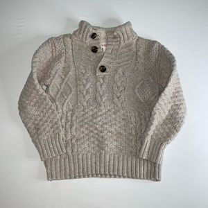 ^^ Beige Boys Cableknit Sweater